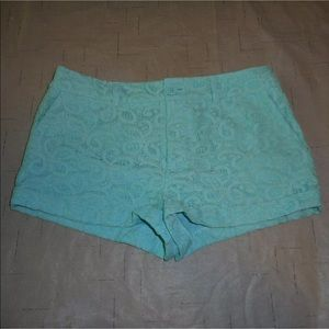Forever 21 sz s mint green floral shorts